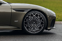 """BNPS.co.uk (01202 558833)<br /> Pic: SilverstoneAuctions/BNPS<br /> <br /> Unique 21"""" OHMSS wheels.<br /> <br /> Stunning Aston Martin 'James Bond' supercar with only 45 miles on the clock - yours for £300,000.<br /> <br /> A limited edition Aston Martin that was built to mark the 50th anniversary of one of the most popular James Bond movies has emerged for sale for around £300,000.<br /> <br /> The DBS Superleggera was one of just 50 created last year to commemorate five decades since the release of On Her Majesty's Secret Service.<br /> <br /> The movie, which came out in 1969, was the first in the franchise not to feature Sean Connery and instead starred George Lazenby as 007."""