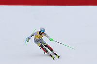 21st December 2020; Alta Badia Ski Resort, Dolomites, Italy; International Ski Federation World Cup Slalom Skiing; Sebastian Foss-Solevaag (NOR) comes through the finish gate