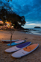 Surfboards and paddle boards for rent on Kata beach, Phuket, Thailand