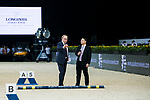 Course designer Louis Konickx speaks at the course design demonstration during the Longines Masters of Hong Kong at AsiaWorld-Expo on 10 February 2018, in Hong Kong, Hong Kong. Photo by Diego Gonzalez / Power Sport Images