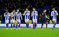 Brighton players celebrate the win and applaud the fans ,during the Premier League match between Brighton and Hove Albion and Crystal Palace at the American Express Community Stadium, Brighton and Hove, England on 4 December 2018. Photo by Edward Thomas / PRiME Media Images.