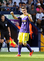 Pictured: Pablo Hernandez of Swansea celebrating his goal, making the score 0-2 to his team.. Sunday 01 September 2013<br /> Re: Barclay's Premier League, West Bromwich Albion v Swansea City FC at The Hawthorns, Birmingham, UK.