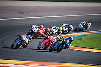 VALENCIA, SPAIN - NOVEMBER 8: Nicolo Bulega, Jorge Martin, Jules Danilo during Valencia MotoGP 2015 at Ricardo Tormo Circuit on November 8, 2015 in Valencia, Spain