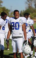 Sept. 16, 2009; Casa Grande, AZ, USA; California Redwoods wide receiver Sonny Shackelford during training camp at the Casa Grande Training Facility & Performance Institute. Mandatory Credit: Mark J. Rebilas-