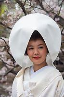 Japan, Okayama Prefecture, Kurashiki. Bride.