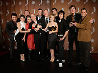 Montreal (Qc) CANADA - Sept 14, 2008 - <br /> <br /> <br /> Pierre Verville,Laurence Leboeuf ,  LES LAVIGUEUR<br />  , LA VRAI HISTOIRE,<br /> <br /> <br /> 2008 Gemeaux Gala rewarding French-Canadian television.