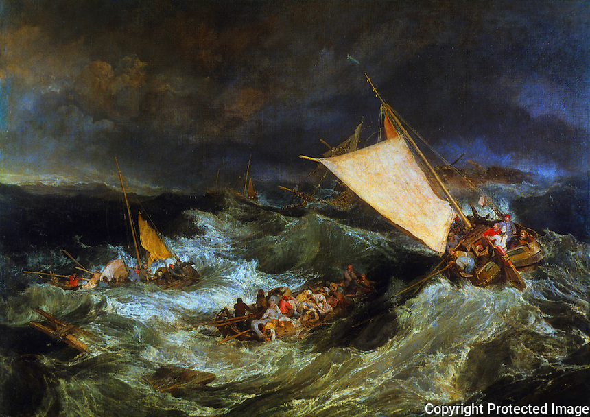 J.M.W. Turner:  The Shipwreck, 1805.  Tate Gallery--London.  Reference only.