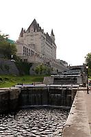 Chateau Laurier beside Rideau Lock Ottawa