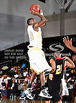 Alabama State Hornets guard Kenderek Washington (20) in action during the SWAC Championship game between the Alabama State Hornets and the Grambling State Tigers at the Special Events Center in Garland, Texas. Alabama State defeats Grambling State 65 to 48.