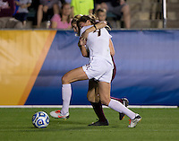 Kassey Kallman, Ellie Zoepfl. Florida State defeated Virginia Tech, 3-2,  at the NCAA Women's College Cup semifinals at WakeMed Soccer Park in Cary, NC.