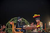Imperatriz Leopolinense Samba School, Carnival, Rio de Janeiro, Brazil, 26th February 2017. The 'Indians negotiating with the White Men' float.