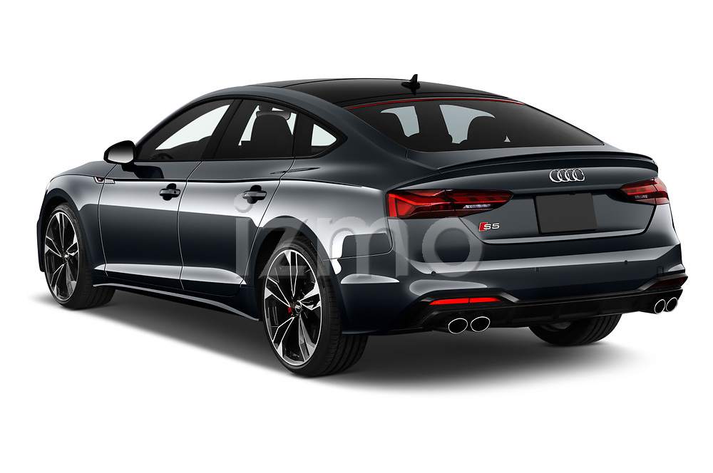 Car pictures of rear three quarter view of 2021 Audi S5-Sportback Premium-Plus 5 Door Hatchback Angular Rear