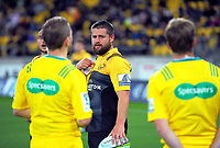 Dane Coles waits for a TMO decision during the Super Rugby match between the Hurricanes and Highlanders at Westpac Stadium in Wellington, New Zealand on Saturday, 4 March 2017. Photo: Dave Lintott / lintottphoto.co.nz