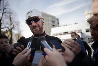 an joyous, accessible stage winner in his very last TT as World Champion: Sir Bradley Wiggins (GBR/Sky)<br /> <br /> 3 Days of De Panne 2015<br /> stage 3b: De Panne-De Panne TT
