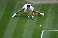 9th July 2021, Wimbledon, SW London, England; 2021 Wimbledon Championships, semi finals; Novak Djokovic Ser during his win over Denis Shapovalov Can