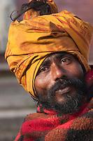 Pashupatinath, Nepal.  Sadhu (Holy Man) at Nepal's Holiest Hindu Temple.