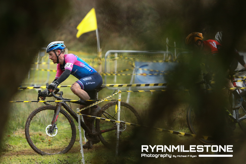 EVENT:<br /> Round 5 of the 2019 Munster CX League<br /> Drombane Cross<br /> Sunday 1st December 2019,<br /> Drombane, Co Tipperary<br /> <br /> CAPTION:<br /> Paidi O'Brien of Verge Sport PI Cycles in action during the A Race - Senior<br /> <br /> Photo By: Michael P Ryan