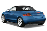 Rear three quarter view of a 2007 - 2010 Audi TT Roadster with top down