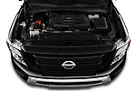Car Stock 2020 Nissan Titan SV 4 Door Pick-up Engine  high angle detail view