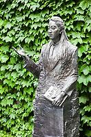 Nanjing, Jiangsu, China.  Statue to Iris Chang, Author of The Rape of Nanjing.