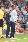 Real Betis's coach Quique Setien during La Liga match between Real Madrid and Real Betis at Santiago Bernabeu Stadium in Madrid, Spain September 20, 2017. (ALTERPHOTOS/Borja B.Hojas)