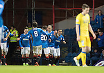 Rangers v St Johnstone…01.03.17     SPFL    Ibrox<br />Martyn Waghorn celebrates his goal<br />Picture by Graeme Hart.<br />Copyright Perthshire Picture Agency<br />Tel: 01738 623350  Mobile: 07990 594431