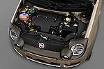 High angle engine detail of a 2009 Fiat Panda 5 Door 4x4 .