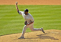 17 June 2012: New York Yankees pitcher Rafael Soriano on the mound against the Washington Nationals at Nationals Park in Washington, DC. The Yankees defeated the Nationals 4-1 to sweep their 3-game series. Mandatory Credit: Ed Wolfstein Photo