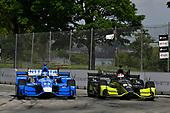Verizon IndyCar Series<br /> Chevrolet Detroit Grand Prix Race 2<br /> Raceway at Belle Isle Park, Detroit, MI USA<br /> Sunday 4 June 2017<br /> Tony Kanaan, Chip Ganassi Racing Teams Honda, Charlie Kimball, Chip Ganassi Racing Teams Honda<br /> World Copyright: Scott R LePage<br /> LAT Images<br /> ref: Digital Image lepage-170604-DGP-9433