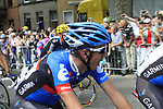 Dan Martin (IRL) Garmin-Sharp crosses the finish line at the end of Stage 2 of the 99th edition of the Tour de France 2012, running 207.5km from Vise to Tournai, Belgium. 2nd July 2012.<br /> (Photo by Eoin Clarke/NEWSFILE)