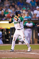 Stuart Fairchild (4) of the Dayton Dragons at bat against the Bowling Green Hot Rods at Fifth Third Field on June 8, 2018 in Dayton, Ohio. The Hot Rods defeated the Dragons 11-4.  (Brian Westerholt/Four Seam Images)