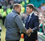 31.03.2019 Celtic v Rangers: Neil Lennon and Steven Gerrard