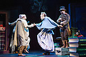 London, UK. 02.12.2013. SJC Productions present DICKENS ABRIDGED at the Arts Theatre. Picture shows: , Damian Humbley (Charles Dickens), Jon Robyns (Ellen Ternan), Gerard Carey (Bill Sykes). Photograph © Jane Hobson.