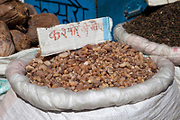 India, Dehradun.  Gum Arabic for Sale in the Market.