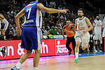 Real Madrid´s Sergio Llull during 2014-15 Euroleague Basketball Playoffs second match between Real Madrid and Anadolu Efes at Palacio de los Deportes stadium in Madrid, Spain. April 17, 2015. (ALTERPHOTOS/Luis Fernandez)
