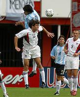 Luis Gonz‡lez, top, Ben Olsen, bottom, Argentina vs. USA, Miami, Fla.