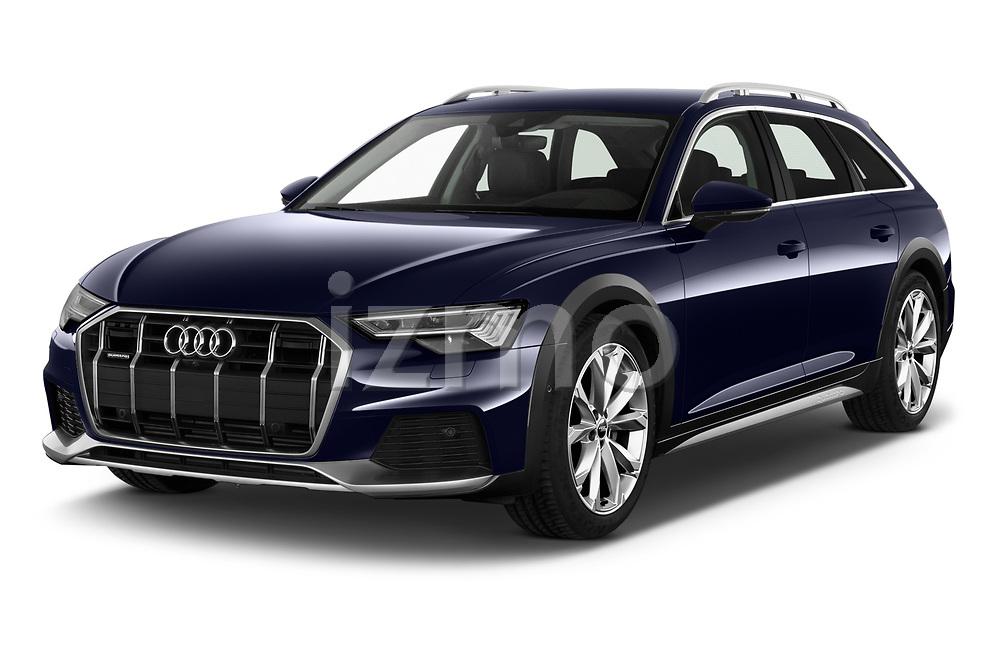 2020 Audi A6 allroad quattro Base 5 Door Wagon angular front stock photos of front three quarter view