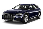 2020 Audi A6 allroad quattro Base 5 Door Wagon angular front stock photos of front three quarter view