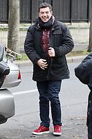 STEPHANE PLAZA - ARRIVEE DE STEPHANE PLAZA A L'EMISSION VIVEMENT DIMANCHE, PARIS, FRANCE, LE 29/11/2107.