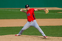 Peoria Chiefs pitcher Eric Carter (25) throws a pitch during a Midwest League game against the Beloit Snappers on April 15, 2017 at Pohlman Field in Beloit, Wisconsin.  Beloit defeated Peoria 12-0. (Brad Krause/Four Seam Images)