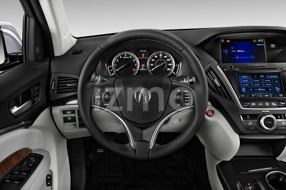 Steering wheel view of a 2020 Acura MDX Standard 5 Door SUV