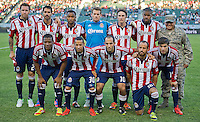 CARSON, CA - July 7, 2012: Chivas USA starting lineup for the Chivas USA vs Vancouver Whitecaps FC match at the Home Depot Center in Carson, California. Final score Vancouver Whitecaps FC 0, Chivas USA 0.