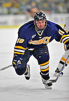 15 February 2008: Merrimack College Warriors' forward Pat Kimball, a Sophomore from Framingham, MA, in action against the University of Vermont Catamounts at Gutterson Fieldhouse in Burlington, Vermont. The Catamounts defeated the Warriors 4-1 in the first game of their 2-game weekend series...Mandatory Photo Credit: Ed Wolfstein Photo