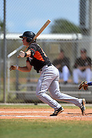 Miami Marlins Brian Schales (95) during a minor league spring training game against the New York Mets on March 30, 2015 at the Roger Dean Complex in Jupiter, Florida.  (Mike Janes/Four Seam Images)