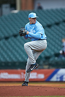 North Carolina Tar Heels relief pitcher Rodney Hutchison Jr. (48) in action against the Boston College Eagles in Game Five of the 2017 ACC Baseball Championship at Louisville Slugger Field on May 25, 2017 in Louisville, Kentucky. The Tar Heels defeated the Eagles 10-0 in a game called after 7 innings by the Mercy Rule. (Brian Westerholt/Four Seam Images)