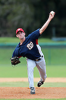 Washington Nationals pitcher Kylin Turnbull #37 during an Instructional League game against the national team from Italy at Holman Stadium on September 29, 2011 in Vero Beach, Florida.  (Mike Janes/Four Seam Images)