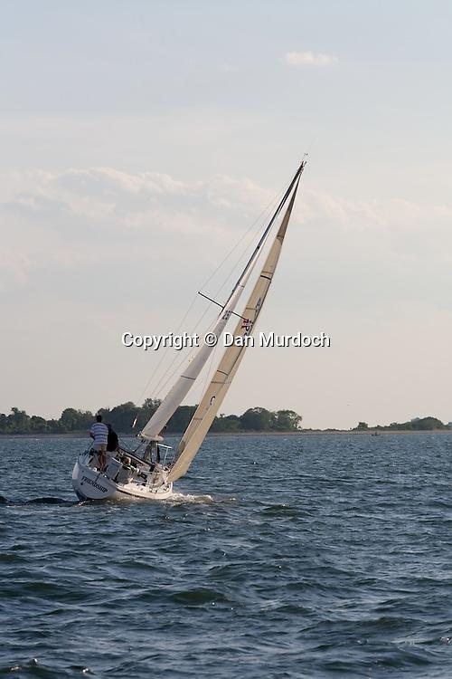 Sailing towards an island