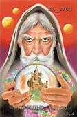 Interlitho, Luis, FANTASY, paintings, magician, ball, castle, KL, KL3703,#fantasy# illustrations, pinturas