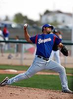 Matt Nevarez  -Texas Rangers - 2009 spring training.Photo by:  Bill Mitchell/Four Seam Images