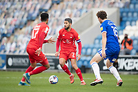 Jobi McAnuff, Leyton Orient looks for the pass during Colchester United vs Leyton Orient, Sky Bet EFL League 2 Football at the JobServe Community Stadium on 14th November 2020